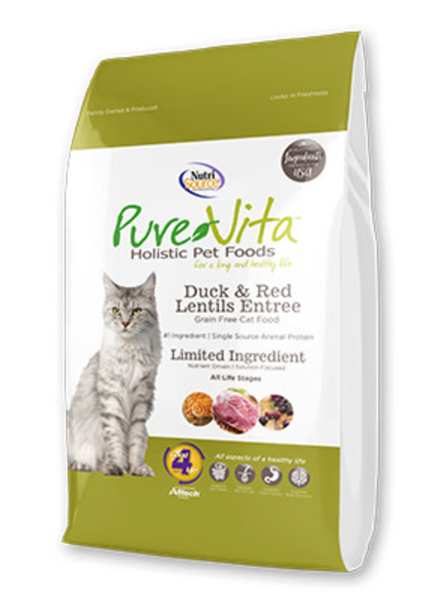 PureVita PureVita Cat Dry Duck and Red Lentils