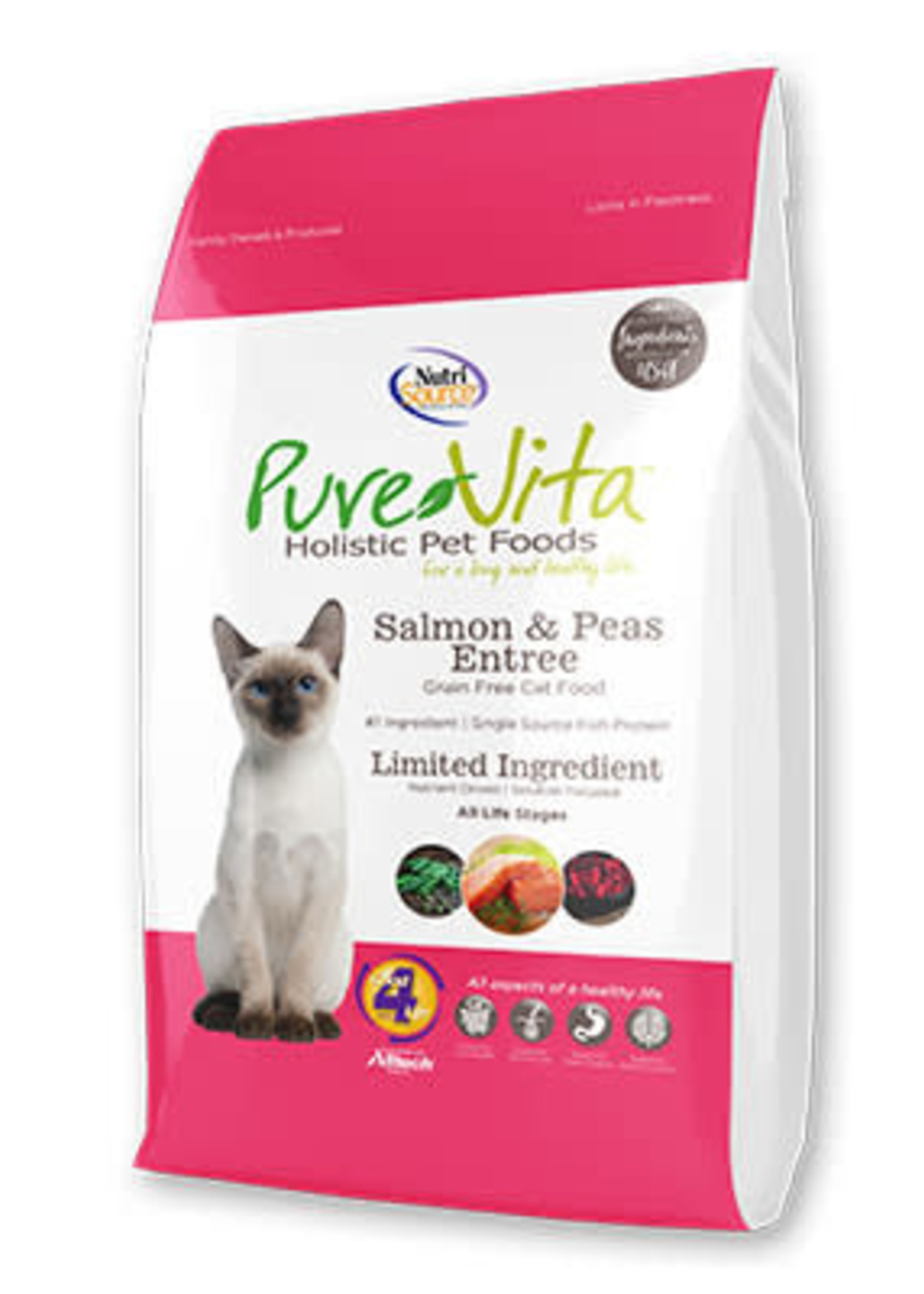 PureVita PureVita Cat Dry Salmon and Peas