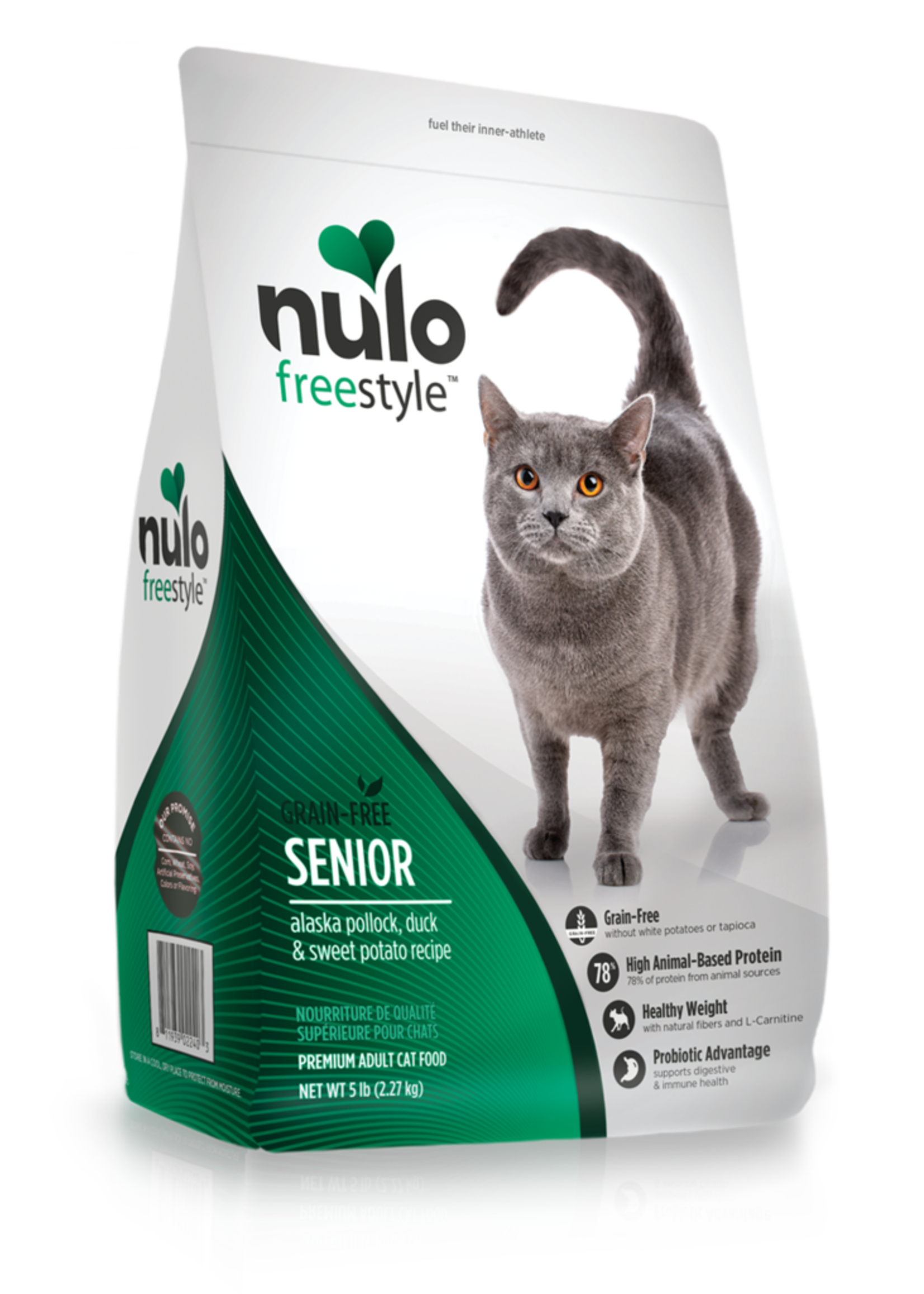 Nulo Nulo Freestyle Cat Dry Senior Pollock, Duck and Sweet Potato