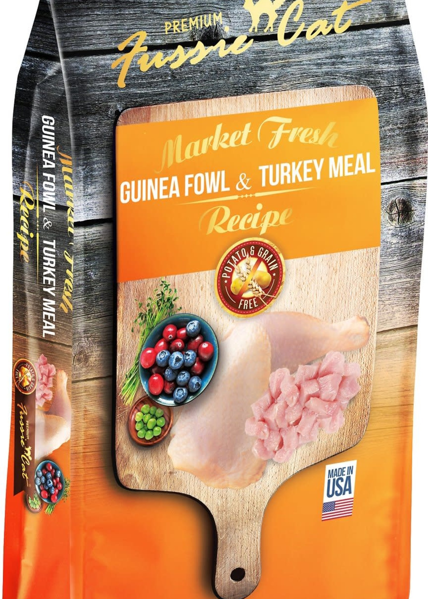 Fussie Cat Fussie Cat Dry Market Fresh Guinea Fowl and Turkey