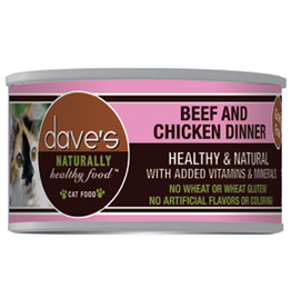 Dave's Pet Food Dave's Cat Can Naturally Healthy Beef and Chicken