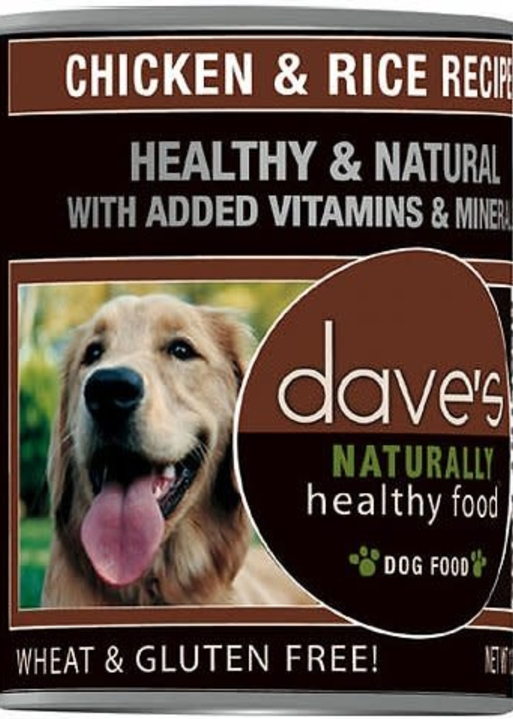Dave's Pet Food Dave's Dog Can Naturally Healthy Chicken and Rice