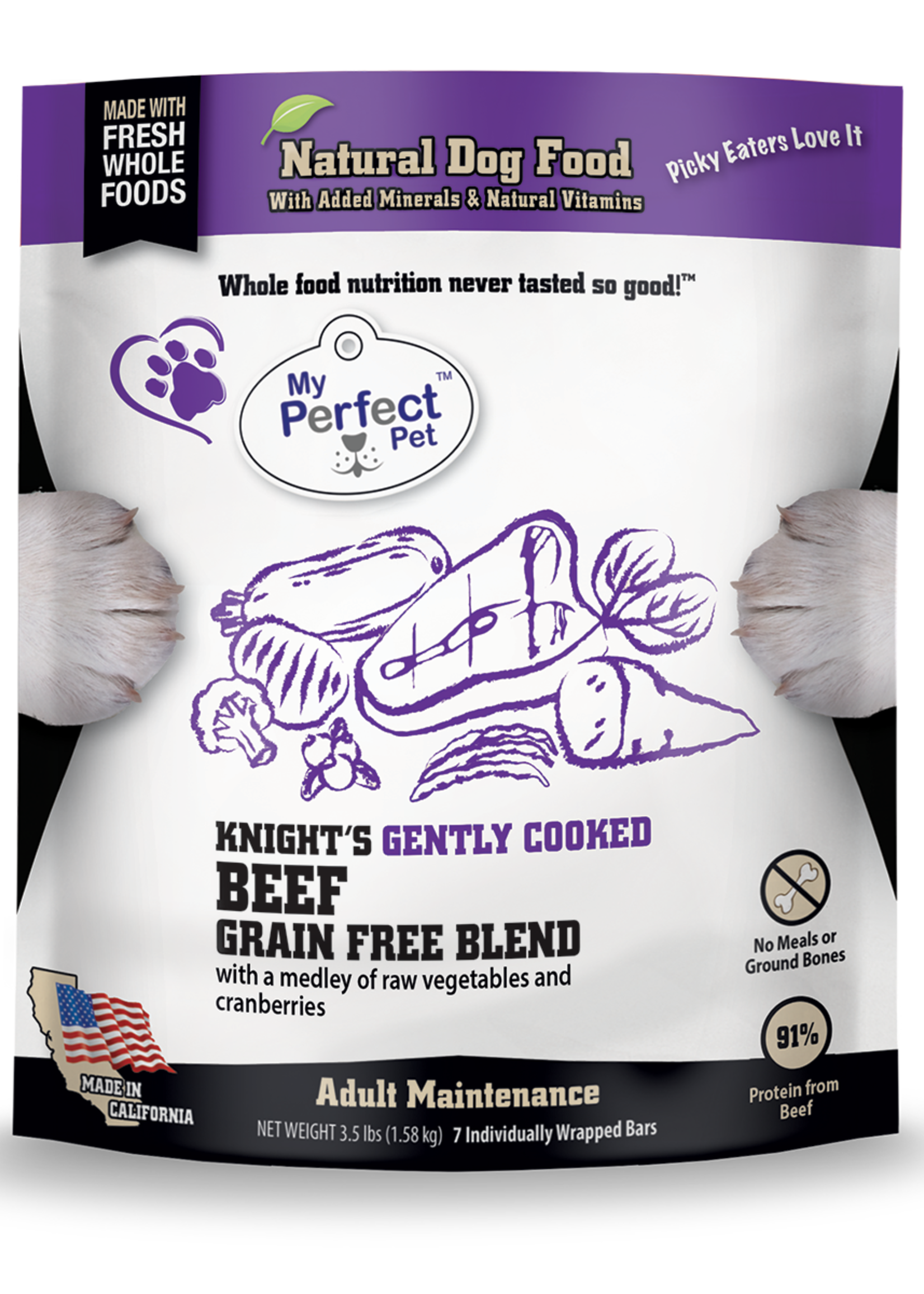 My Perfect Pet My Perfect Pet Dog GF Knight's Beef Blend 3.5 lbs