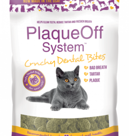 Plaque Off by Swedencareusa Plaque Off Cat Dental Treats Crunchy Bites 3 oz