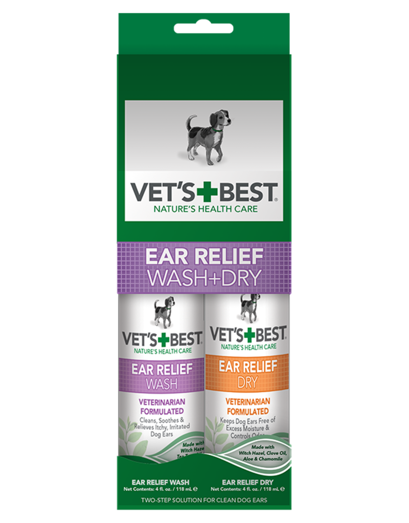 Vet's Best Vet's Best Dog Remedy Ear Relief Wash and Dry 4 oz