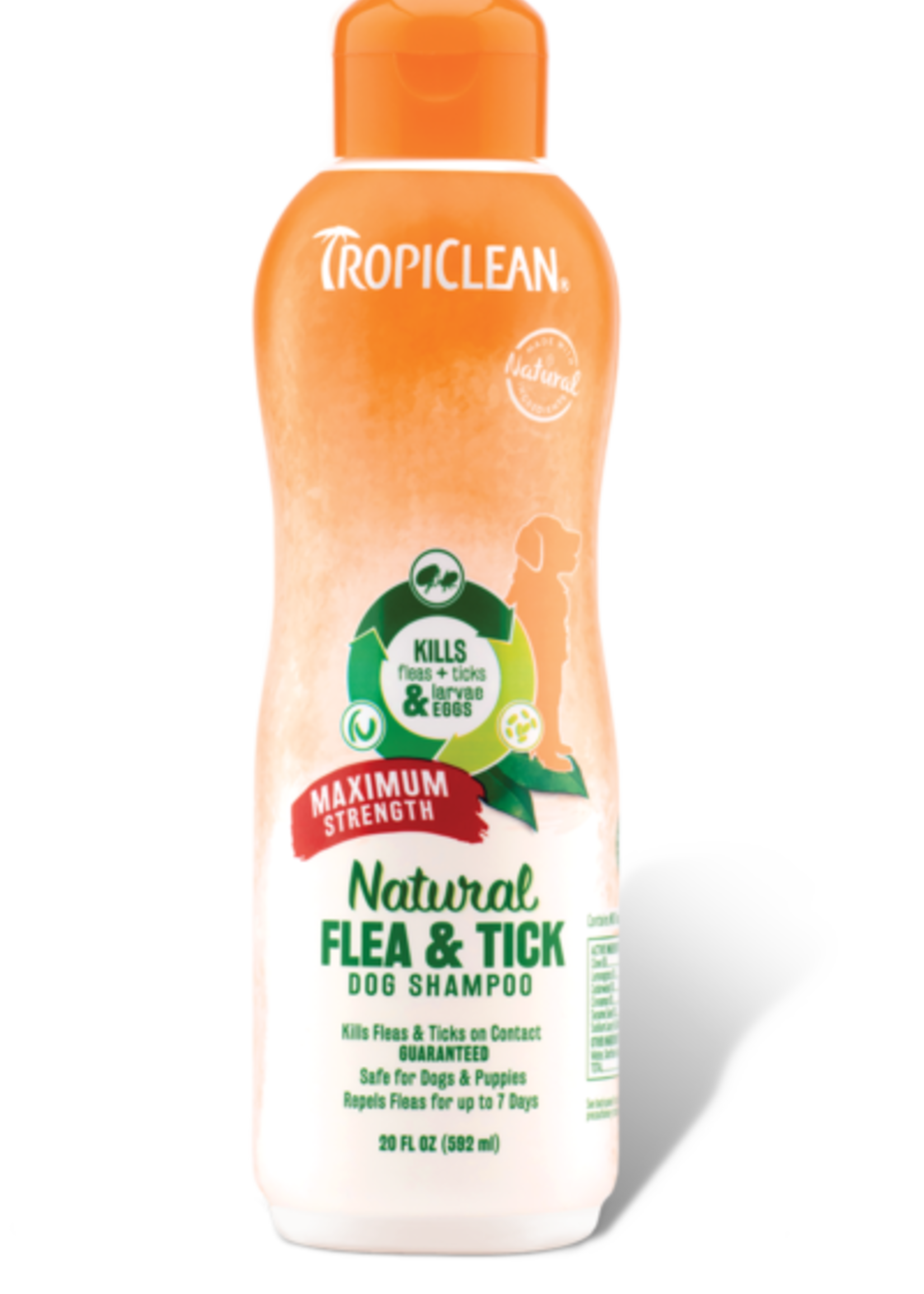 Tropiclean Manufacturing TropiClean Dog Flea and Tick Shampoo + Maximum Strength 20 oz