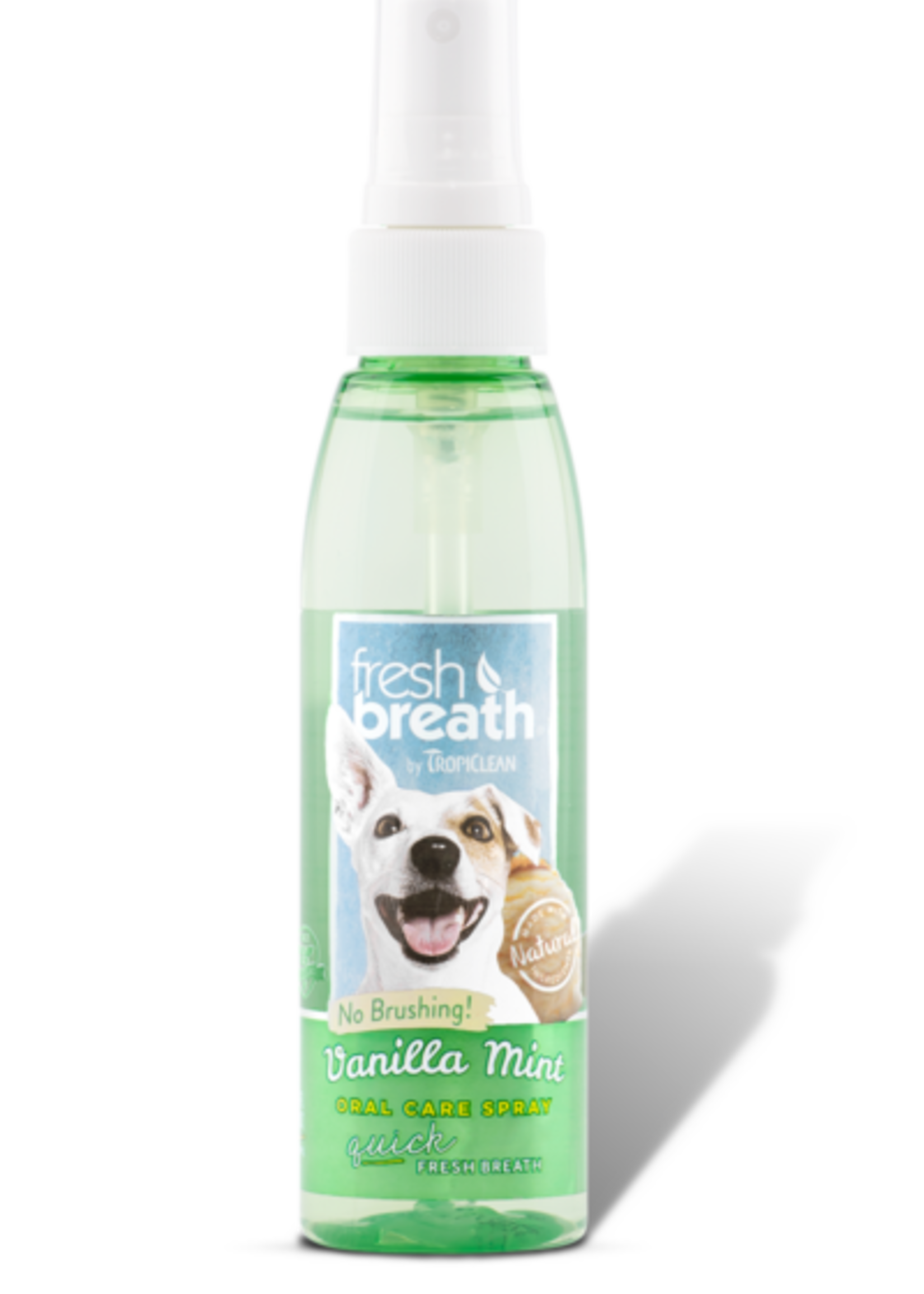Tropiclean Manufacturing TropiClean Dog Fresh Breath Oral Spray Vanilla Mint 4 oz