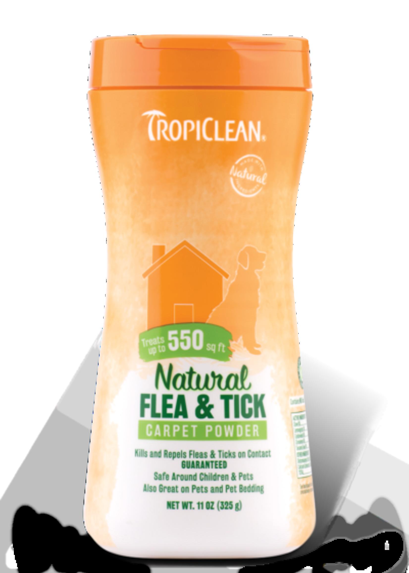 Tropiclean Manufacturing TropiClean Home Flea and Tick Carpet Powder 11 oz