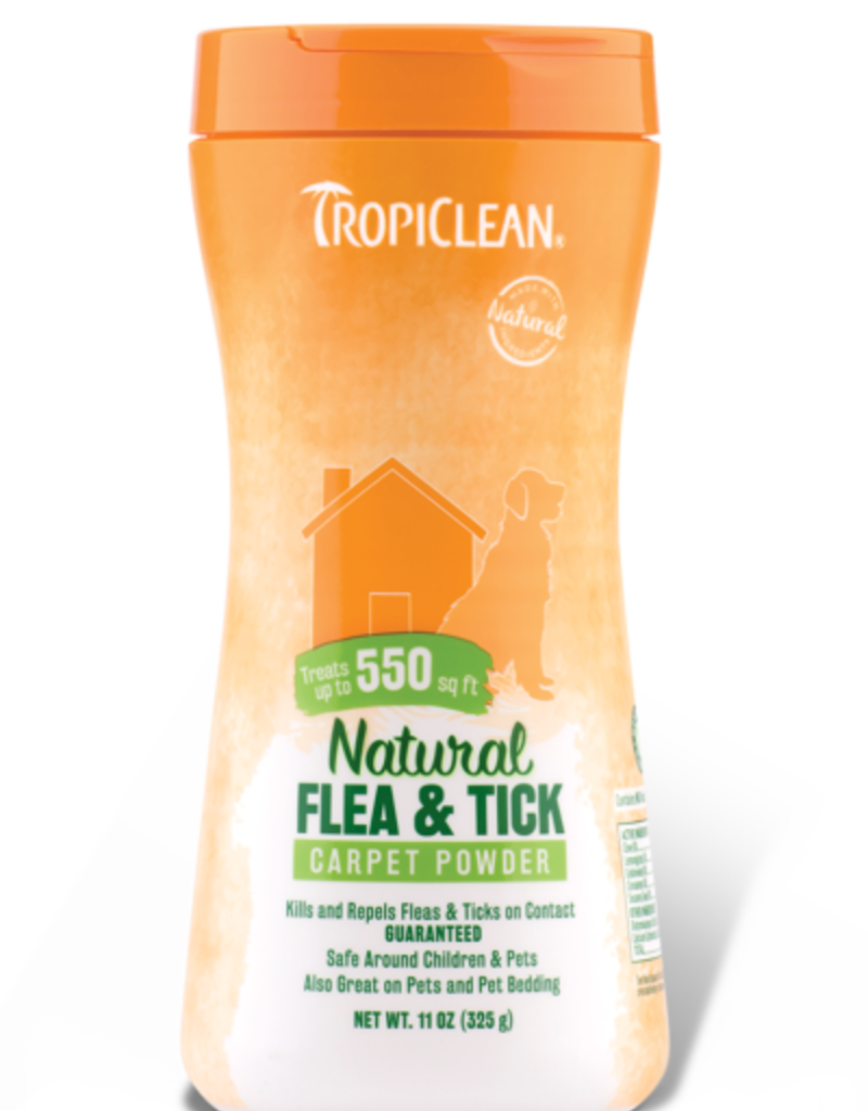 Tropiclean Manufacturing TropiClean Home Flea and Tick Carpet Powder 11 oz
