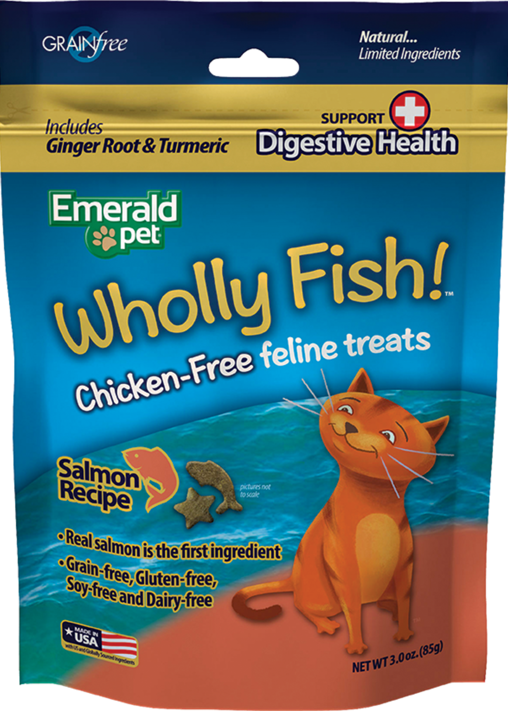 Emerald Pet Products Emerald Pet Cat Wholly Fish! Salmon Plus Digestive Health 3 oz