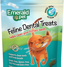 Emerald Pet Products Emerald Pet Cat Dental Treats Ocean Fish 3 oz