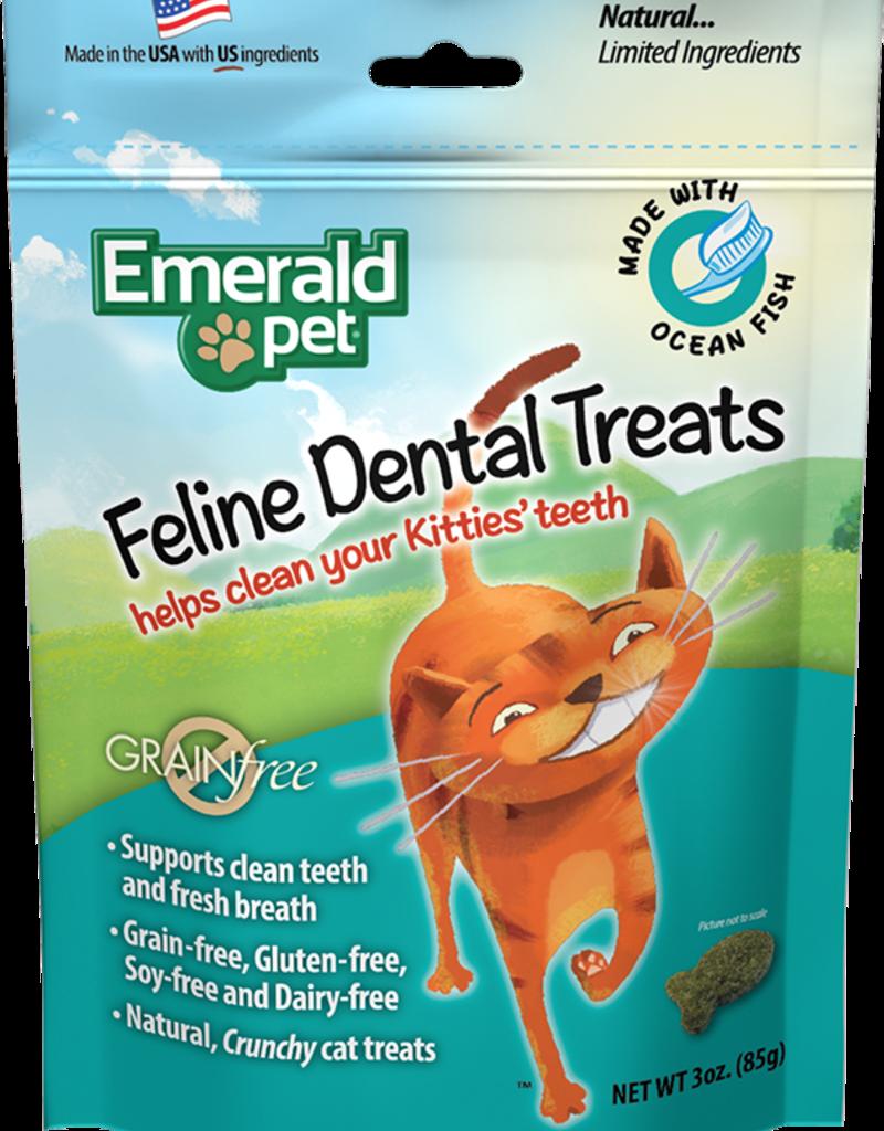 Emerald Pet Products Emerald Pet Cat Dental Treats Ocean Fish 3 oz