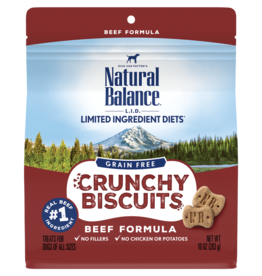 Natural Balance Pet Foods, Inc. Natural Balance Dog Crunchy Biscuit Beef 10 oz