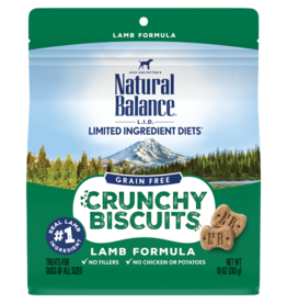 Natural Balance Pet Foods, Inc. Natural Balance Dog Crunchy Biscuit Lamb 10 oz