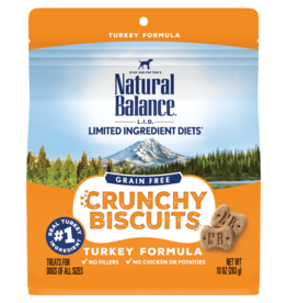 Natural Balance Pet Foods, Inc. Natural Balance Dog Crunchy Biscuit Turkey 10 oz