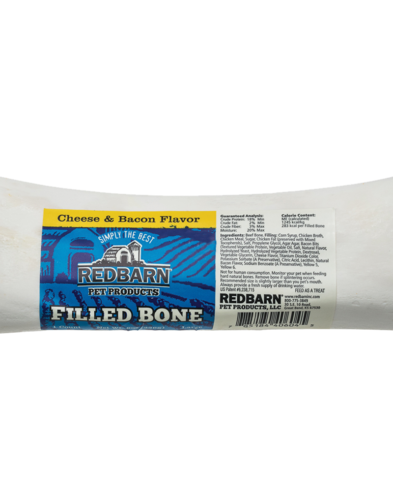 Redbarn Pet Products RedBarn Dog Chew Filled Bone Cheese & Bacon Flavor