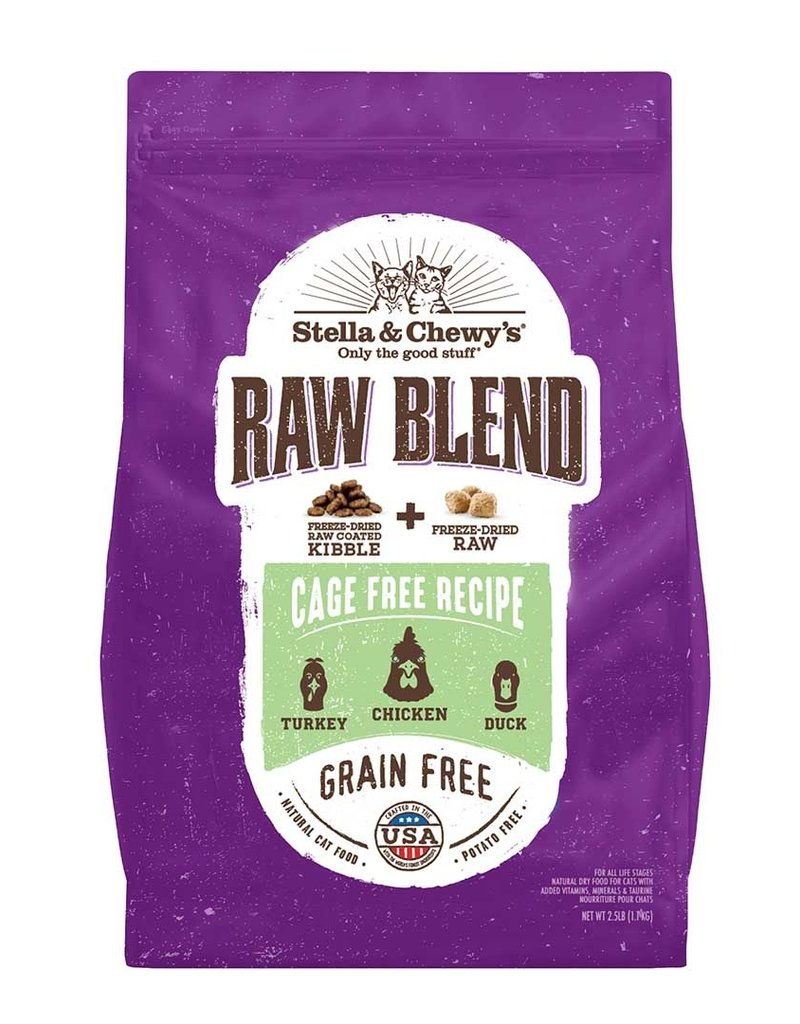 Stella & Chewys Stella & Chewy's Cat Dry Raw Blend Kibble Poultry