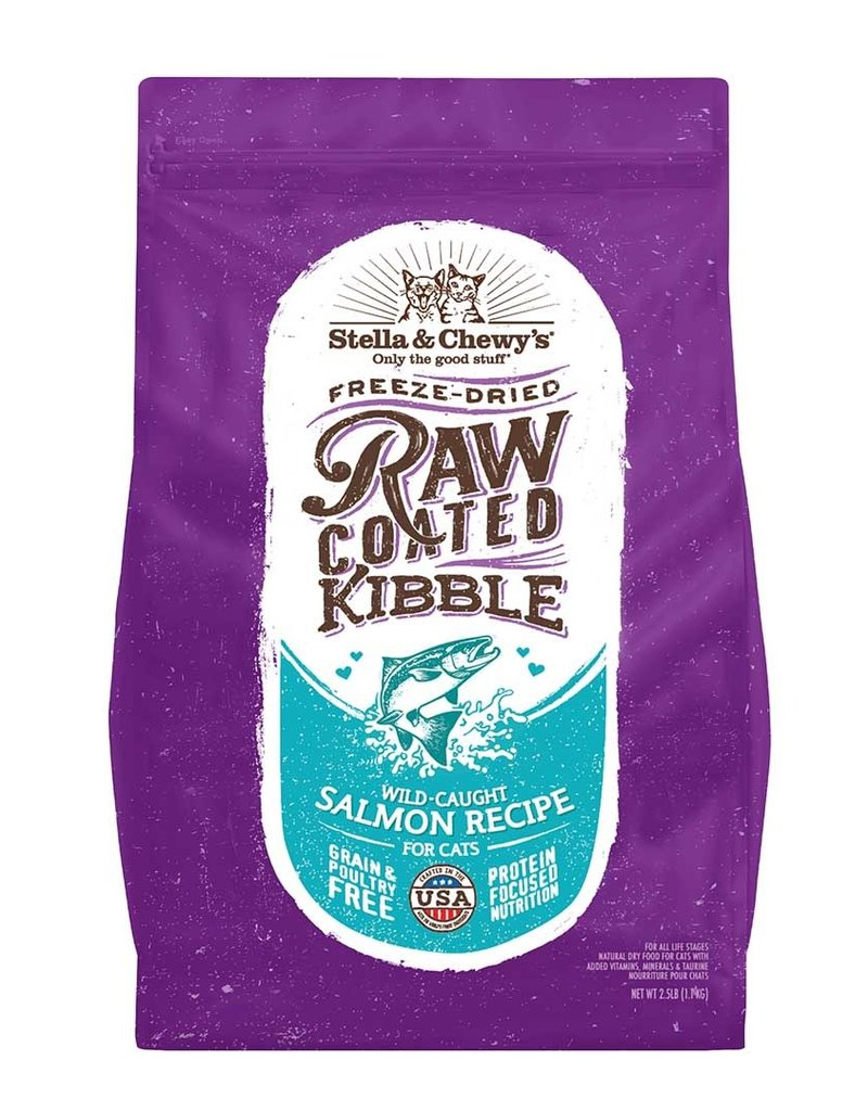 Stella & Chewys Stella & Chewy's Cat Dry Raw Coated Kibble Salmon