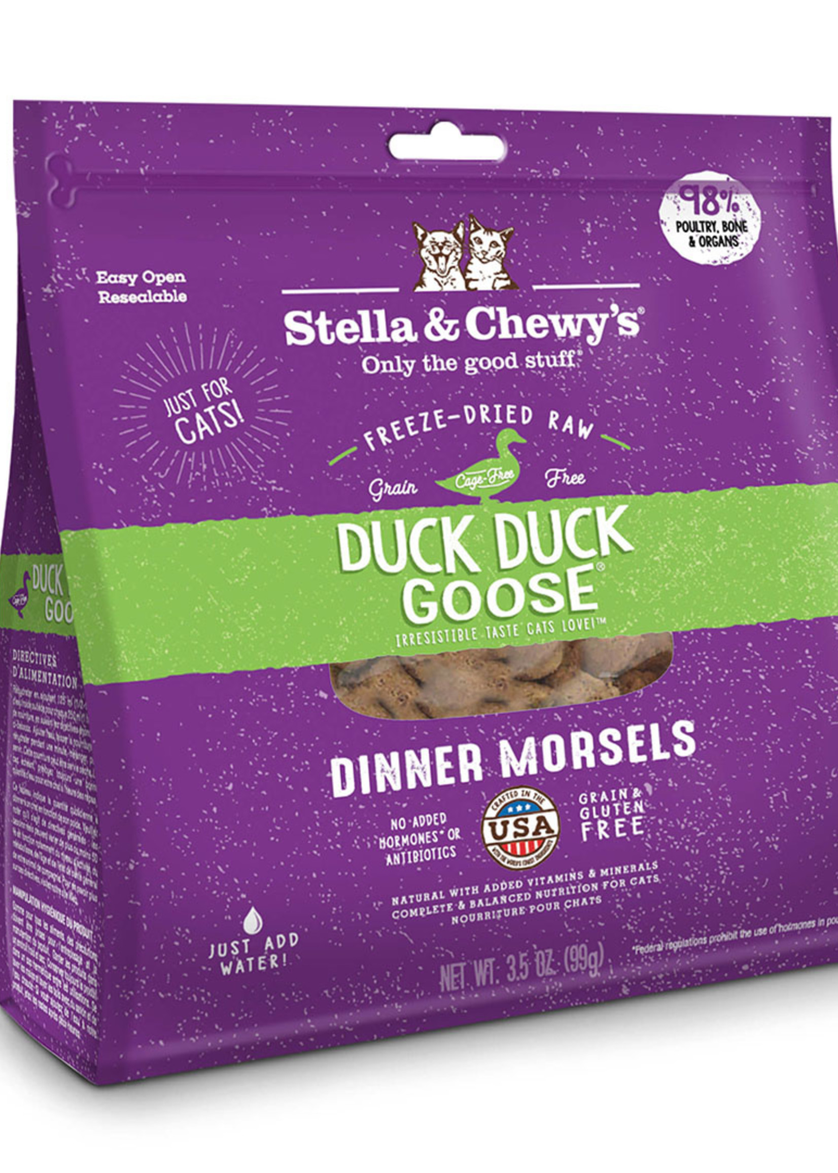 Stella & Chewys Stella & Chewy's Cat Freeze Dried Morsels Duck and Goose