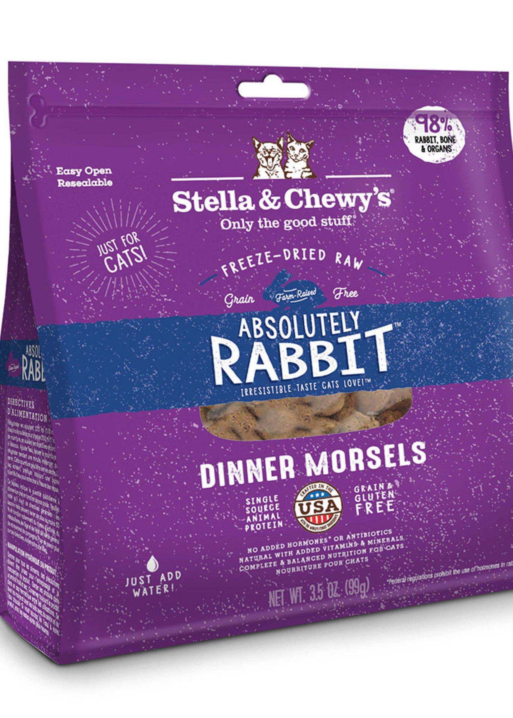 Stella & Chewys Stella & Chewy's Cat Freeze Dried Morsels Rabbit 8 oz