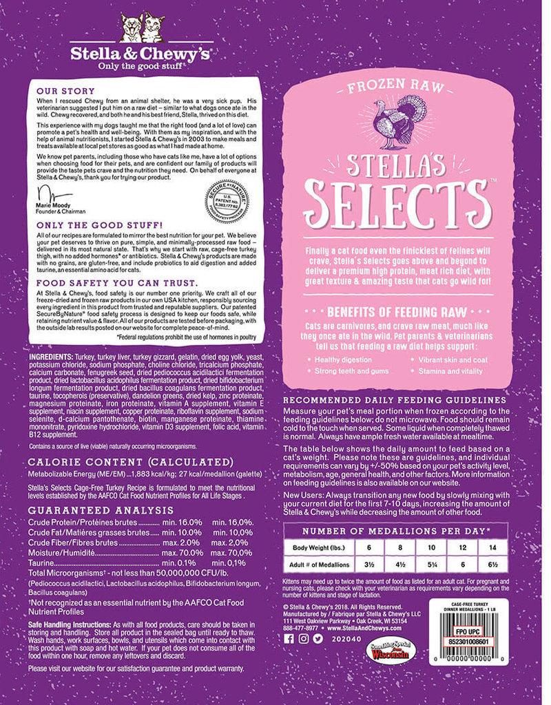Stella & Chewys Stella & Chewy's Cat Frozen Medallions Turkey 1 lbs