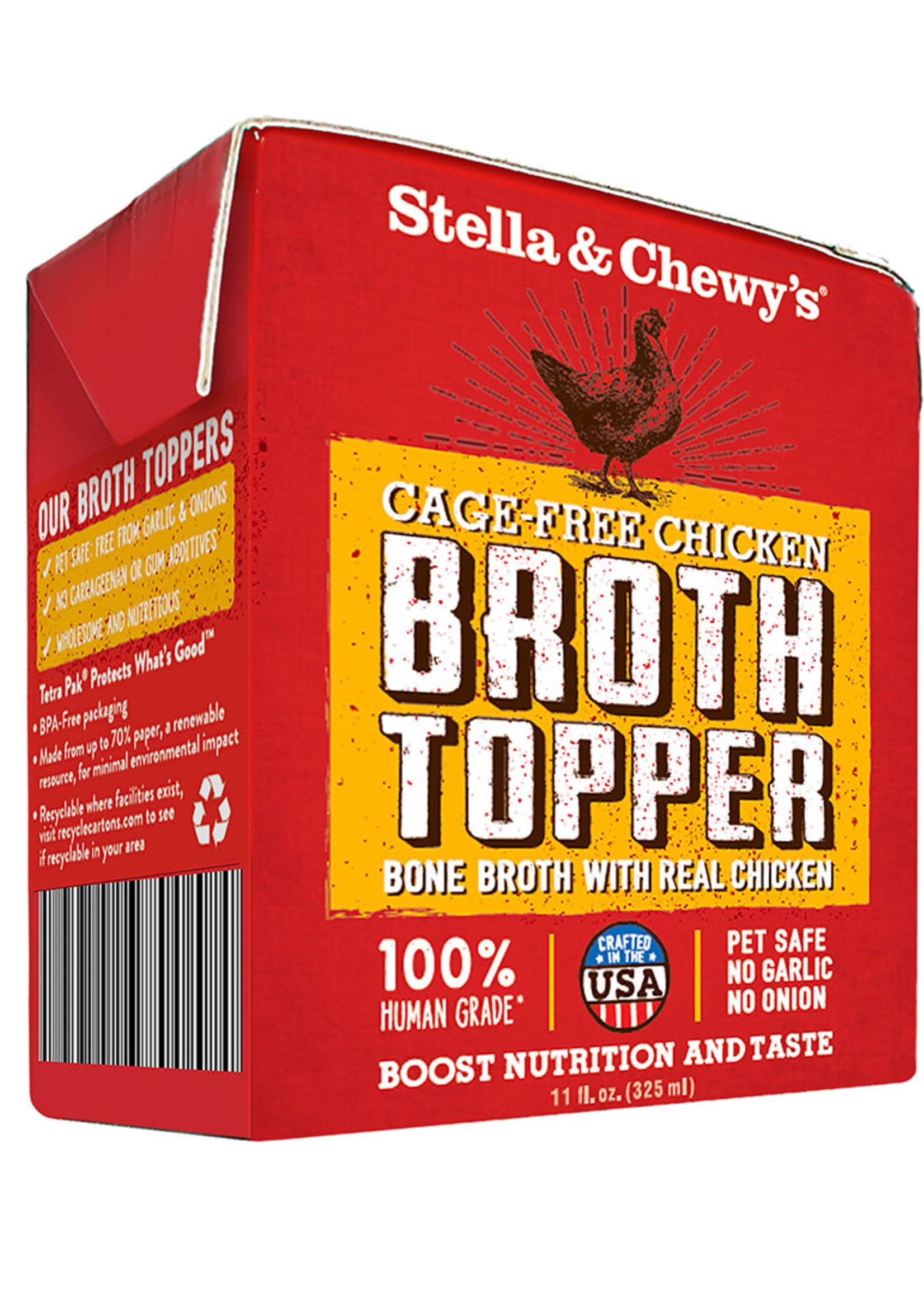Stella & Chewys Stella & Chewy's Cat/Dog Broth Cage-Free Chicken 11 oz