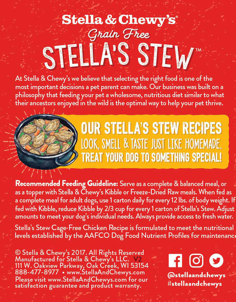 Stella & Chewys Stella & Chewy's Dog Can Stella's Stews Chicken 11 oz