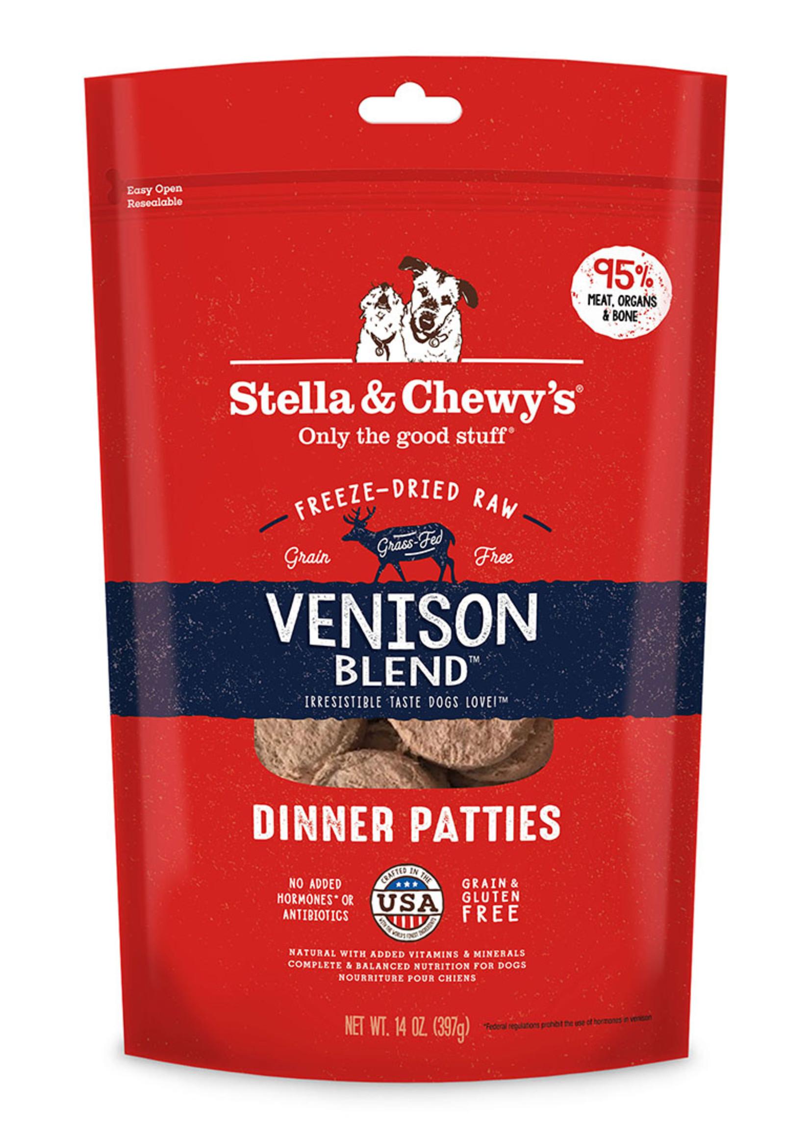 Stella & Chewys Stella & Chewy's Dog Freeze Dried Patties Venison 14 oz