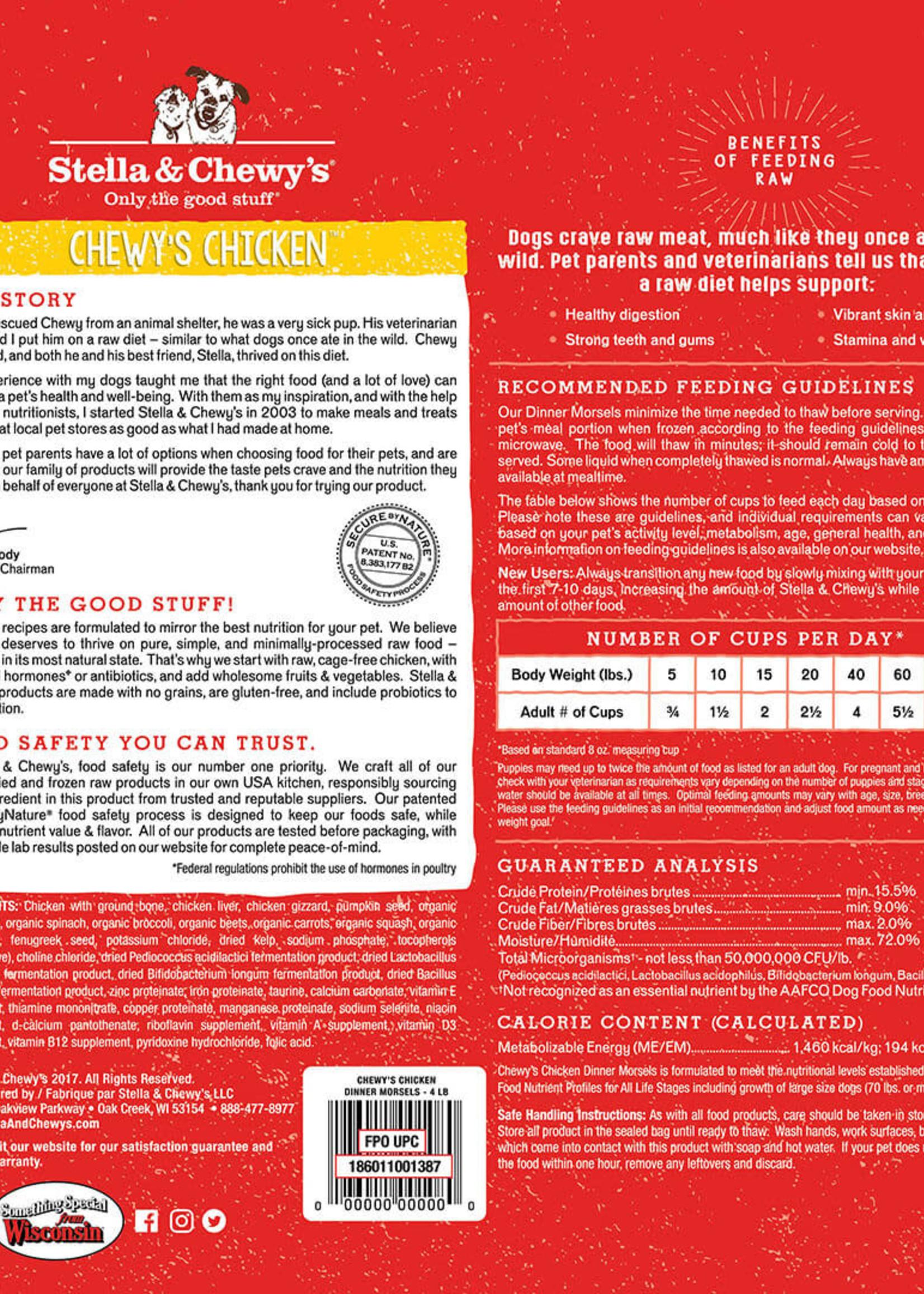 Stella & Chewys Stella & Chewy's Dog Frozen Morsels Chicken 4 lbs