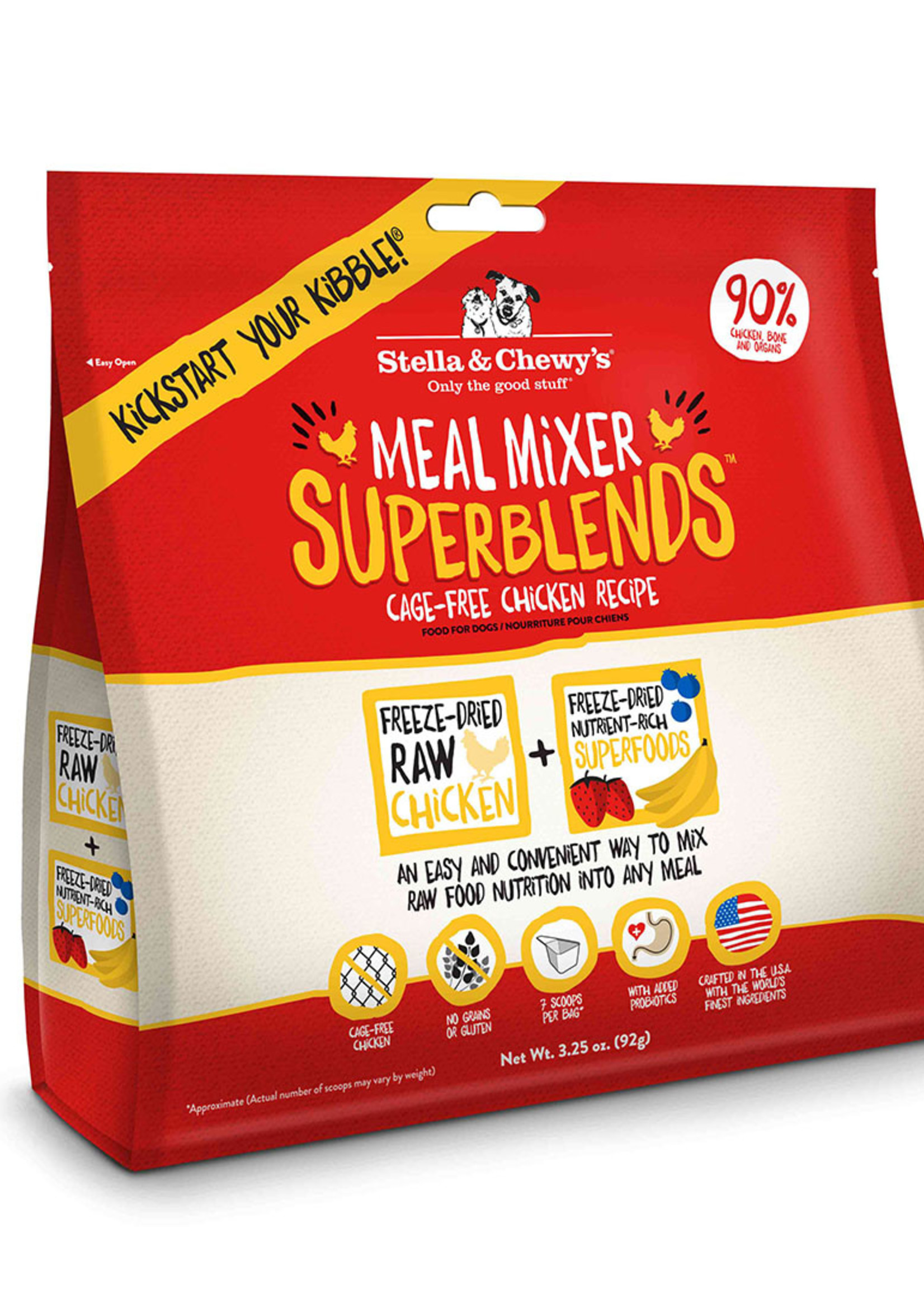 Stella & Chewys Stella & Chewy's Dog Topper Superblend Meal Mixer Chicken 3.25 oz.
