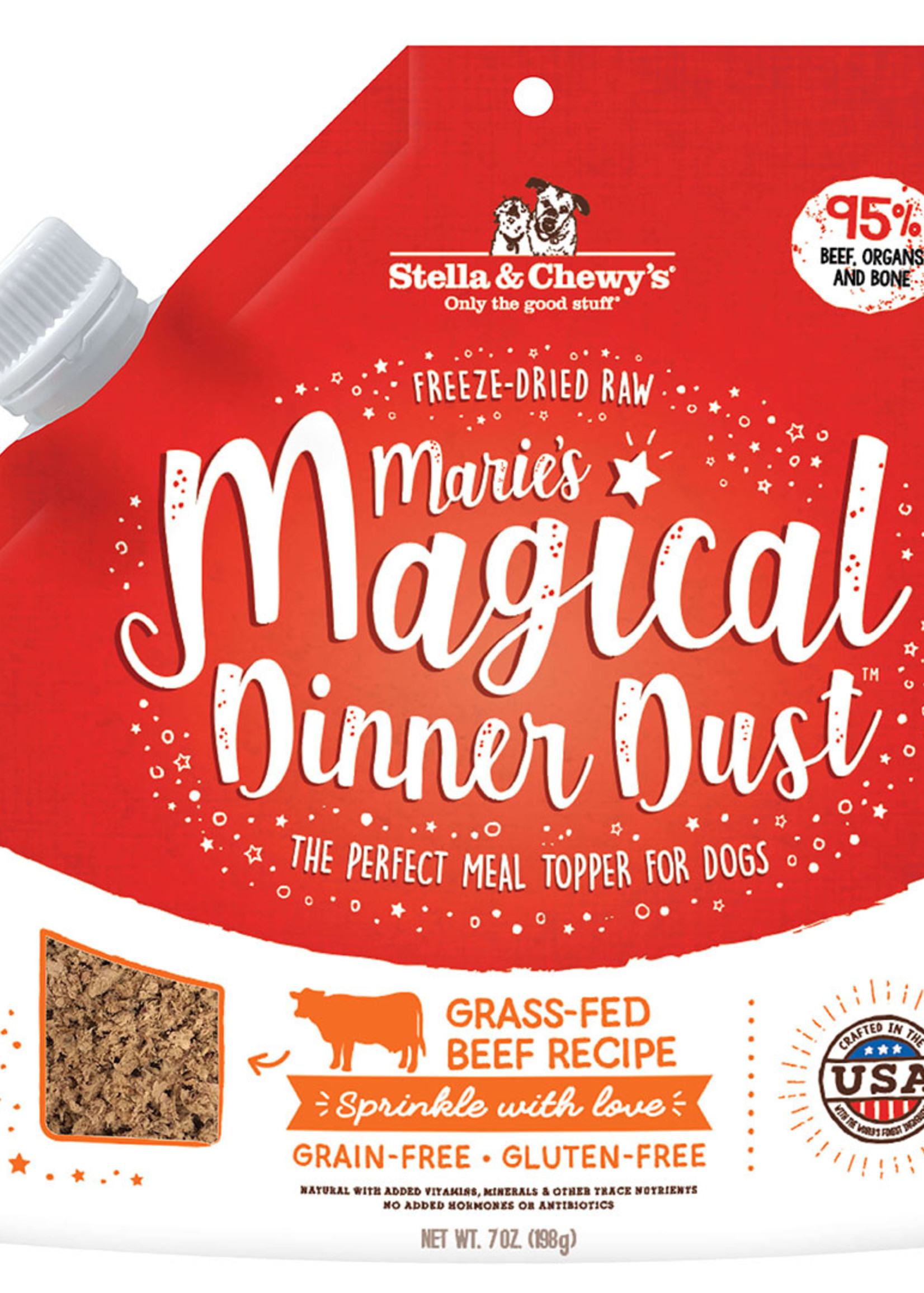 Stella & Chewys Stella & Chewy's Dog Topper Marie's Magical Dinner Dust Beef 7 oz