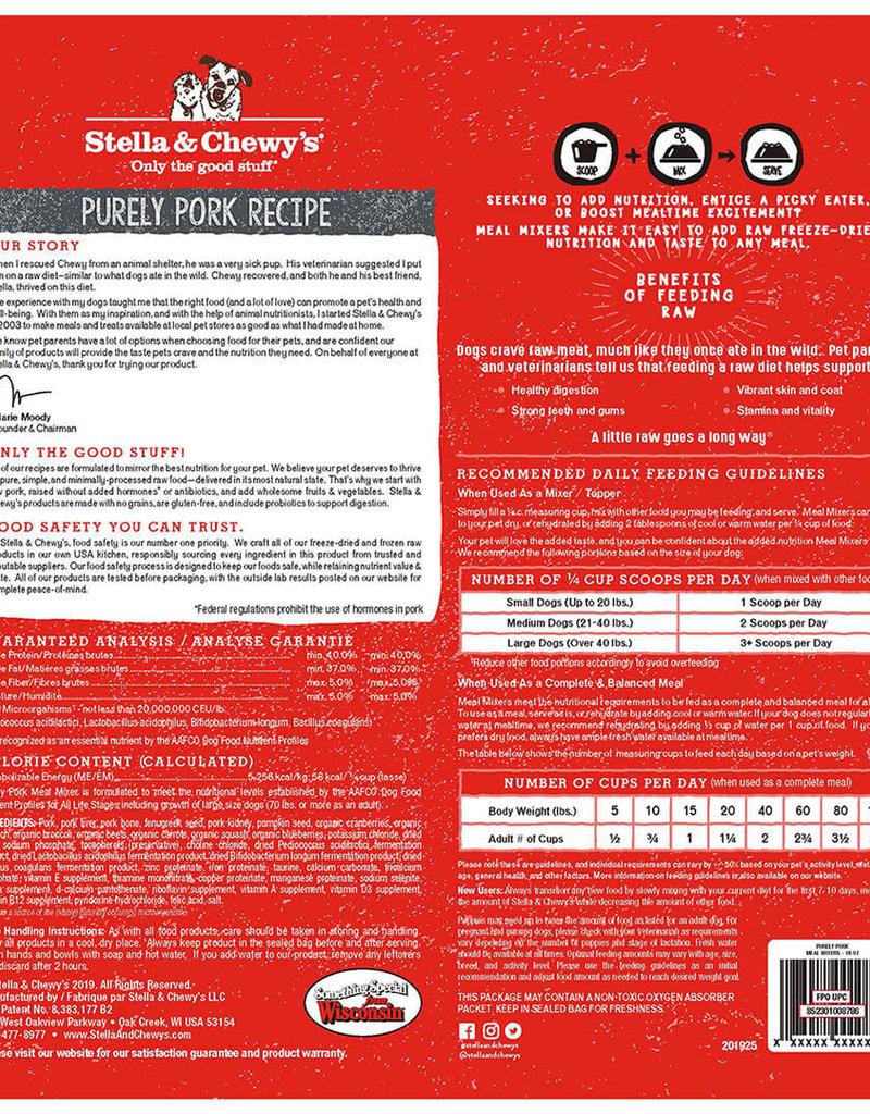Stella & Chewys Stella & Chewy's Dog Topper Meal Mixer Pork 18 oz