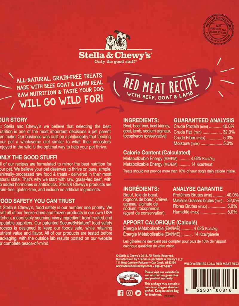 Stella & Chewys Stella & Chewy's Dog Treat Wild Weenies Red Meat 3.25 oz