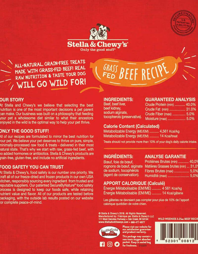Stella & Chewys Stella & Chewy's Dog Treat Wild Weenies Beef 3.25 oz