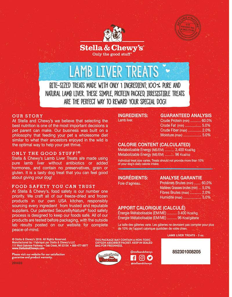 Stella & Chewys Stella & Chewy's Dog Treat Single Ingredient Lamb Liver 3 oz