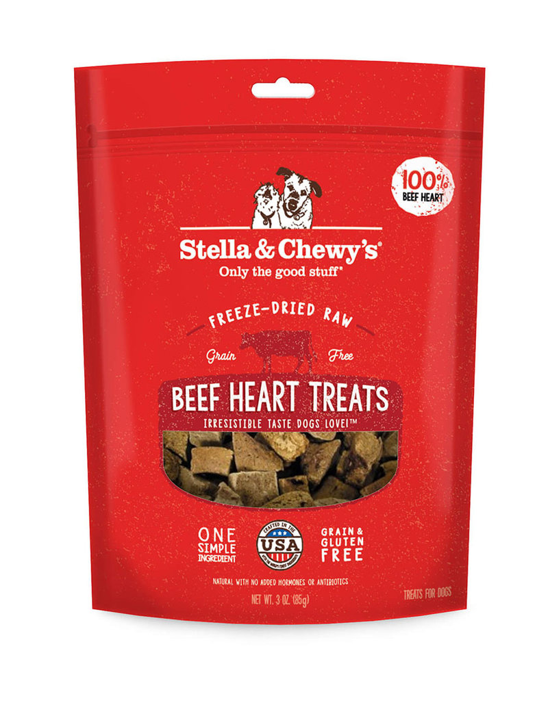 Stella & Chewys Stella & Chewy's Dog Treat Single Ingredient Beef Heart 3 oz