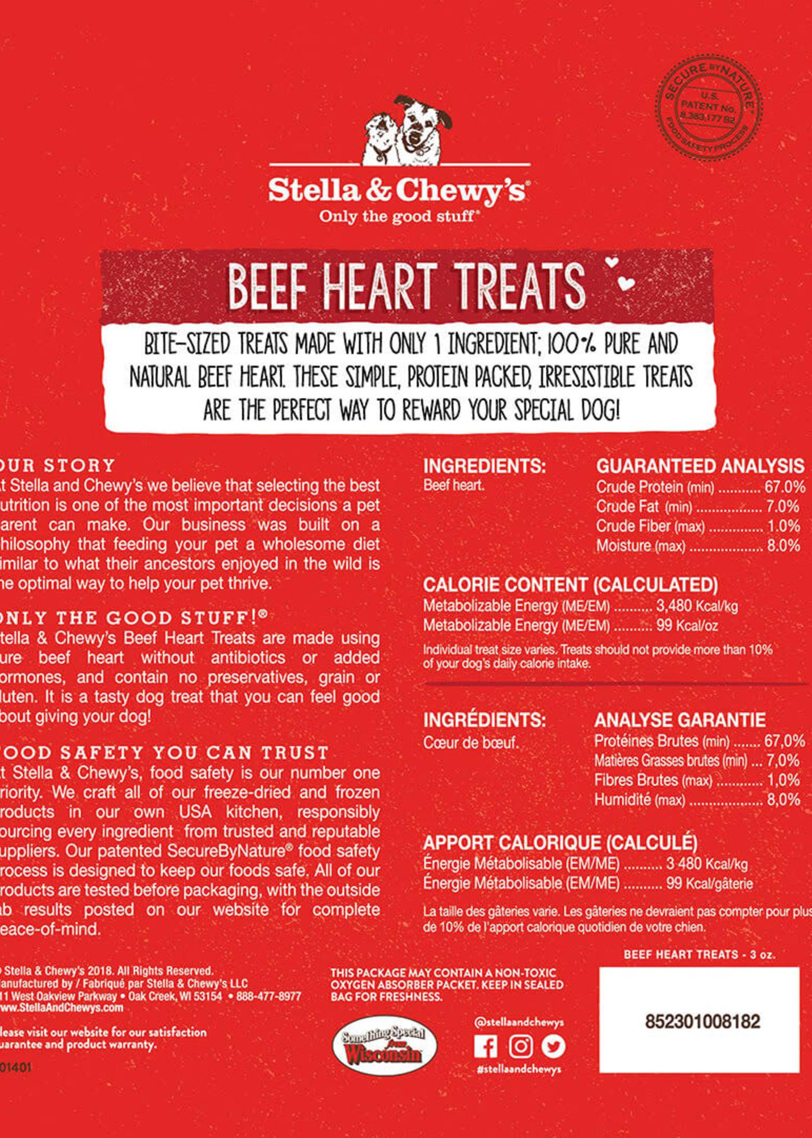 Stella & Chewys Stella & Chewy's Dog Treat Single Ingredient Beef Heart 3 oz