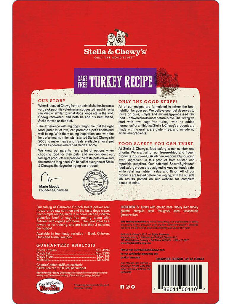 Stella & Chewys Stella & Chewy's Dog Treat Carnivore Crunch Turkey 3.25 oz