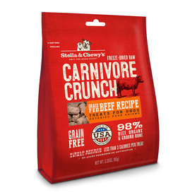 Stella & Chewys Stella & Chewy's Dog Treat Carnivore Crunch Beef 3.25 oz