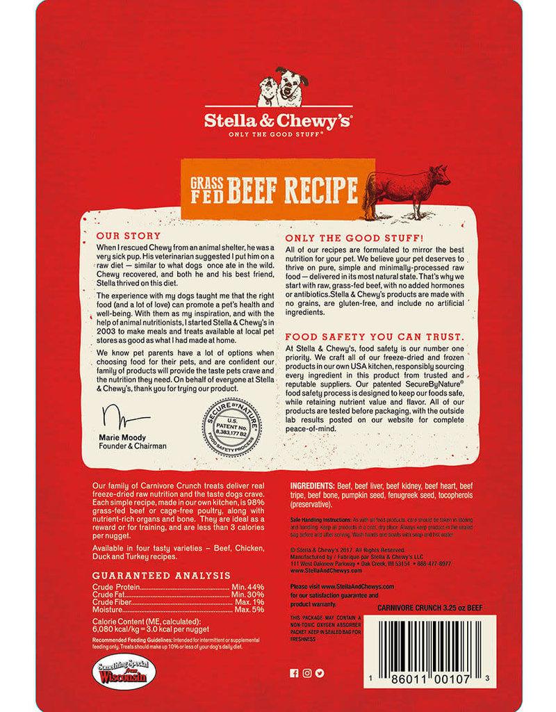 Stella & Chewys Stella & Chewy's Dog Treat Carnivore Crunch Beef 3.25 oz