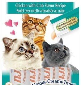 Inaba Foods USA Inaba Cat Treat Churu Puree Chicken and Crab 0.5 oz (4 pack)