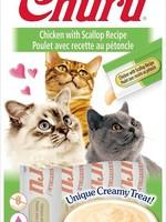 Inaba Foods USA Inaba Cat Treat Churu Puree Chicken and Scallop 0.5 oz (4 pack)