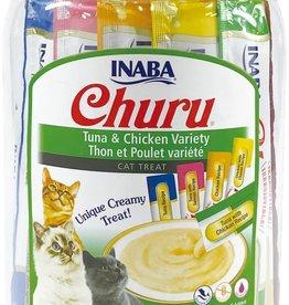 Inaba Foods USA Inaba Cat Treat Churu Puree Chicken and Tuna Variety 0.5 oz (50 pack)