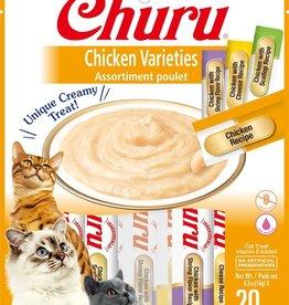 Inaba Foods USA Inaba Cat Treat Churu Puree Chicken Variety 0.5 oz (20 pack)