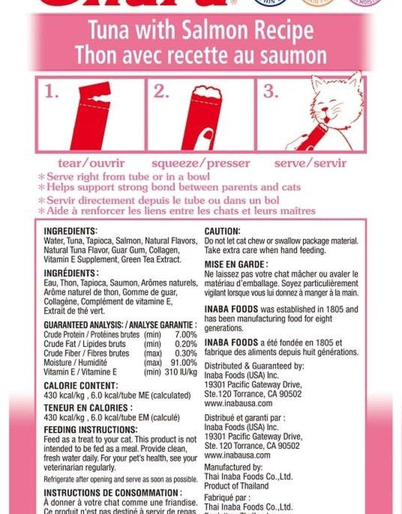 Inaba Foods USA Inaba Cat Treat Churu Puree Tuna and Salmon 0.5 oz (4 pack)