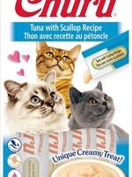 Inaba Foods USA Inaba Cat Treat Churu Puree Tuna and Scallop 0.5 oz (4 pack)