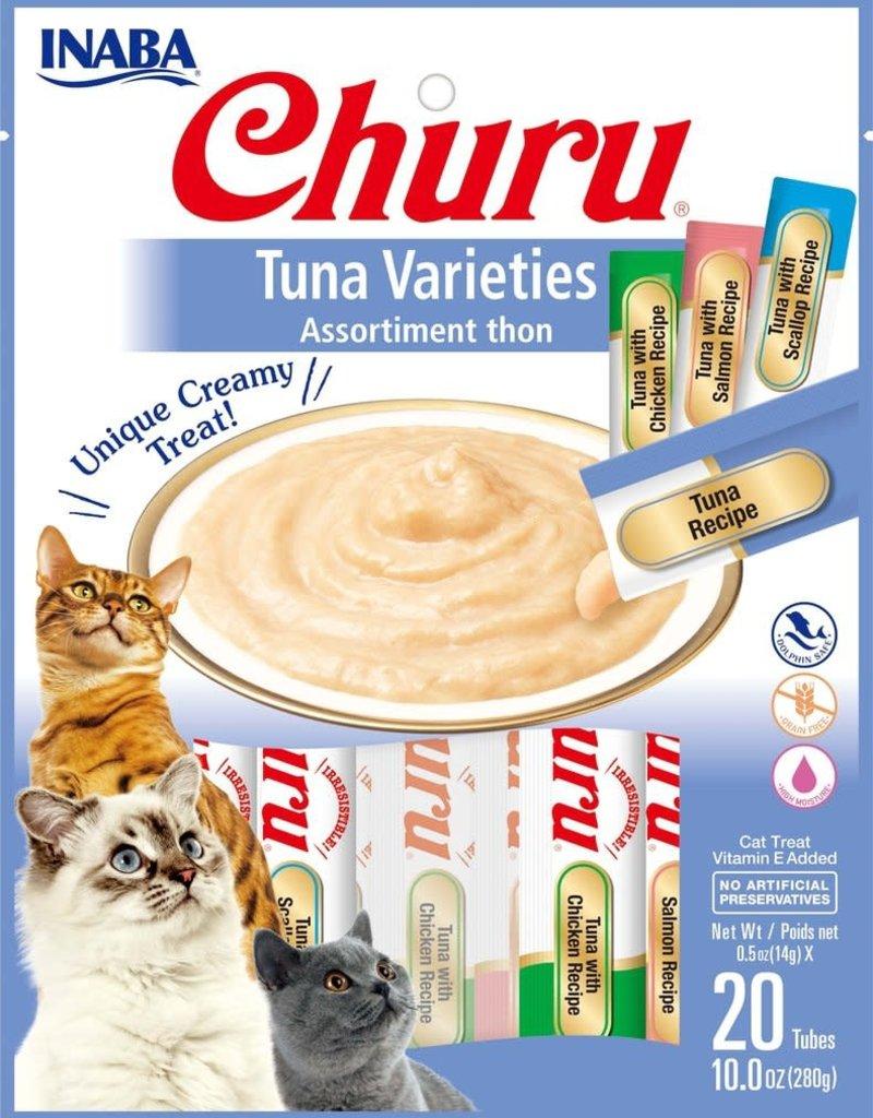 Inaba Foods USA Inaba Cat Treat Churu Puree Tuna Variety 0.5 oz (20 pack)