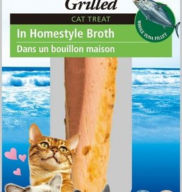 INABA FOODS U.S.A. Inaba Cat Treat Grilled Tuna Fillet in Homestyle Broth 0.9 oz