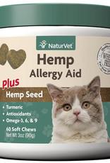 NaturVet NaturVet Cat Hemp Allergy Aid Soft Chew 60 ct