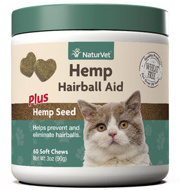 NaturVet NaturVet Cat Hemp Hairball Aid Soft Chew 60 ct